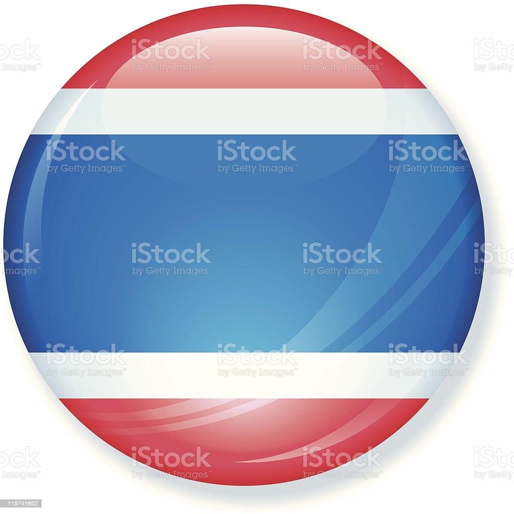 Thailand Super Glossy Flag royalty-free stock vector art