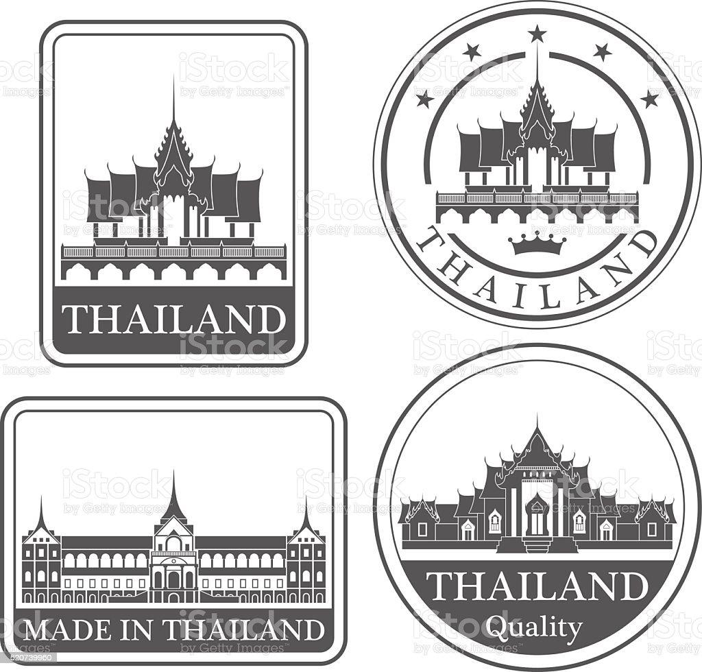 Thailand vector art illustration