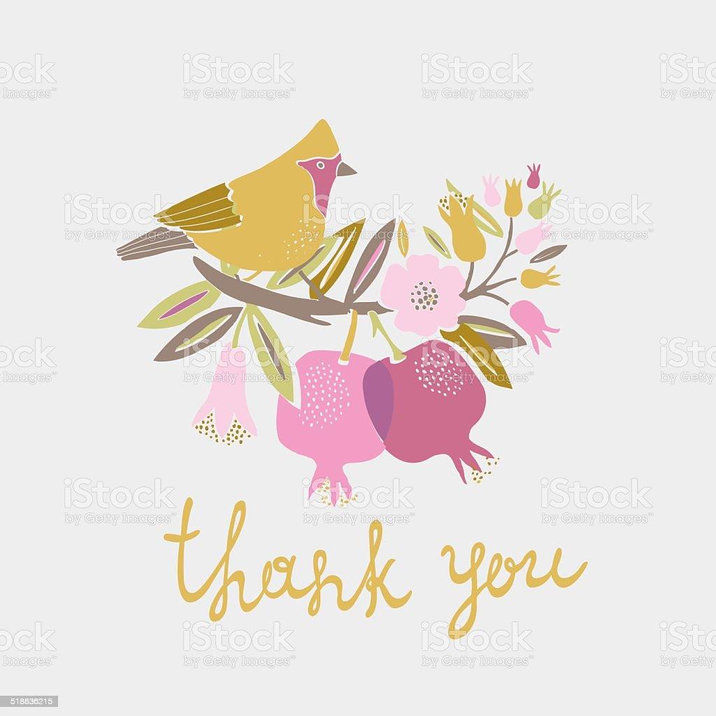 thank you card design stock vector art 518836215 istock