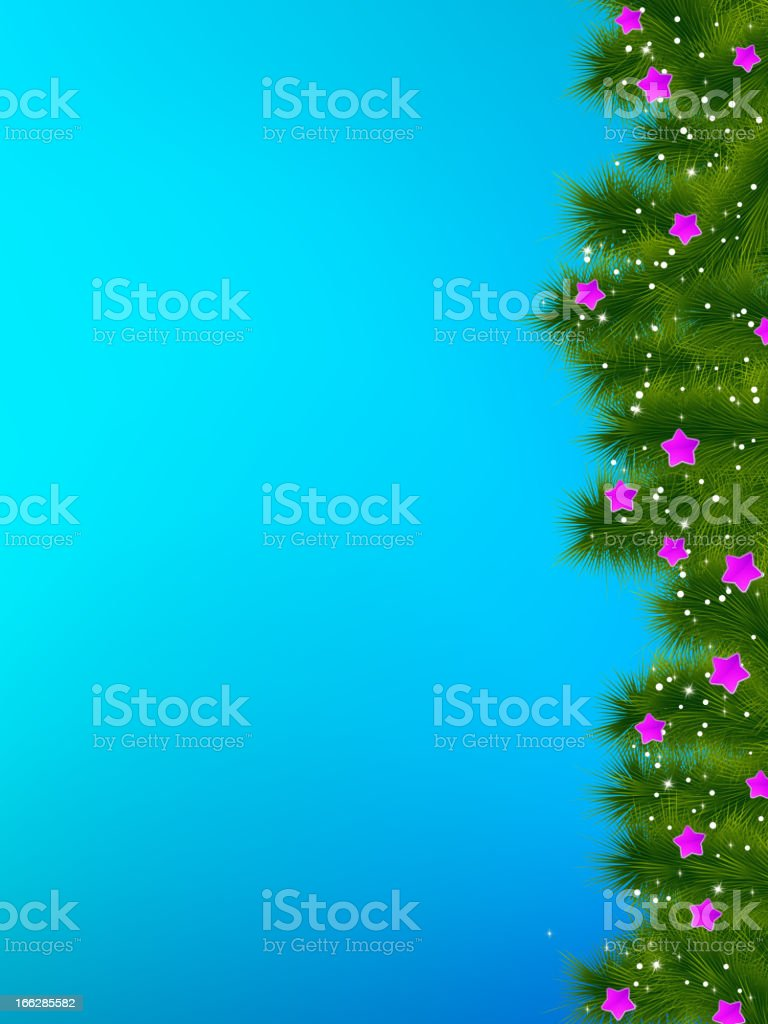 Thank you card on a bright blue christma. EPS 8 royalty-free stock vector art