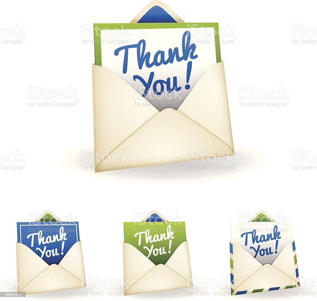Thank You Card royalty-free stock vector art