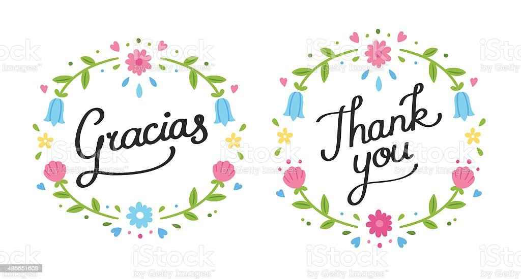 thank you floral banner vector id485651608