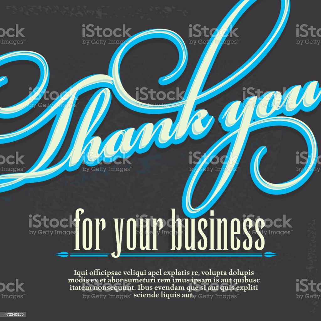 Thank you for your business design card template royalty-free stock vector art