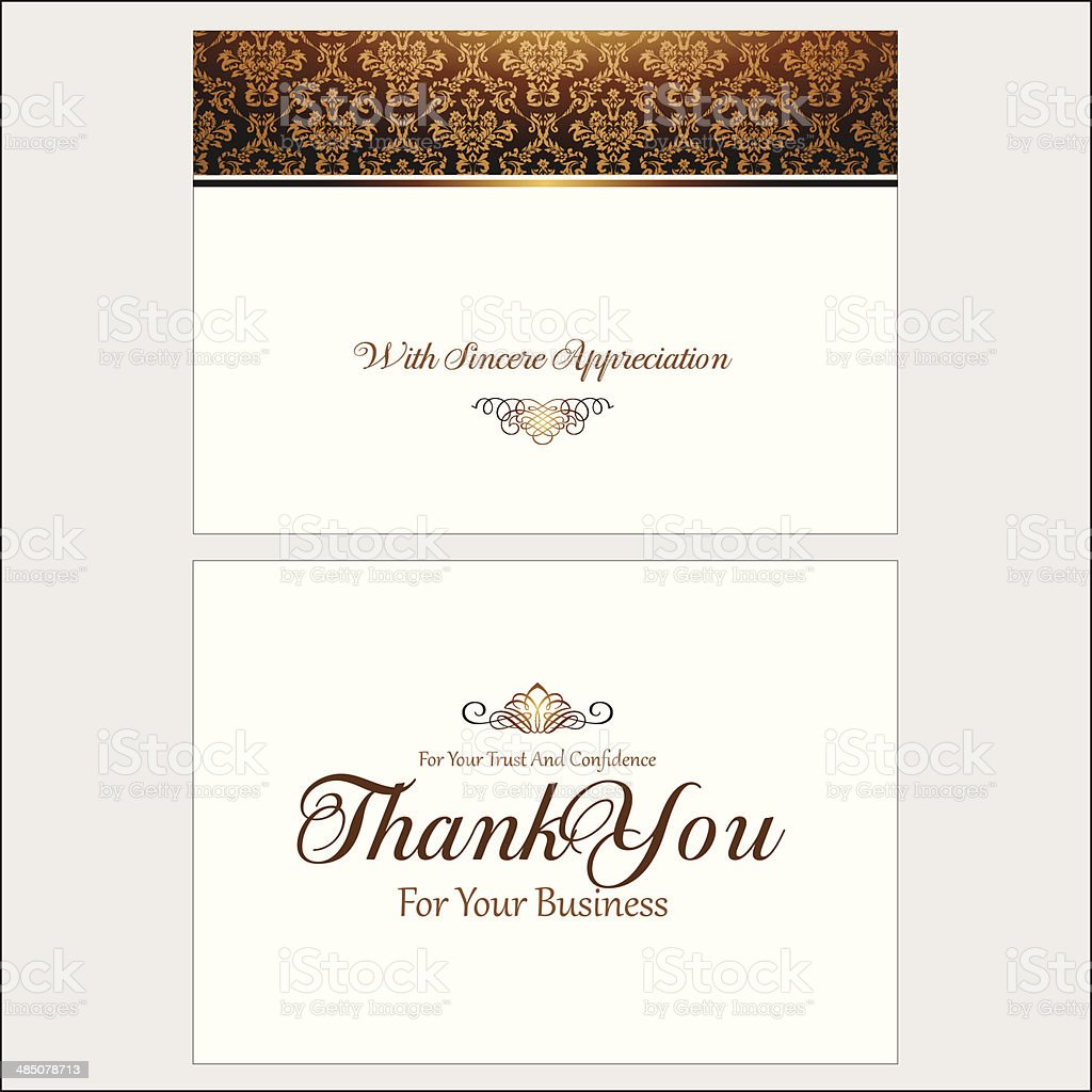 Thank You Greeting Card vector art illustration