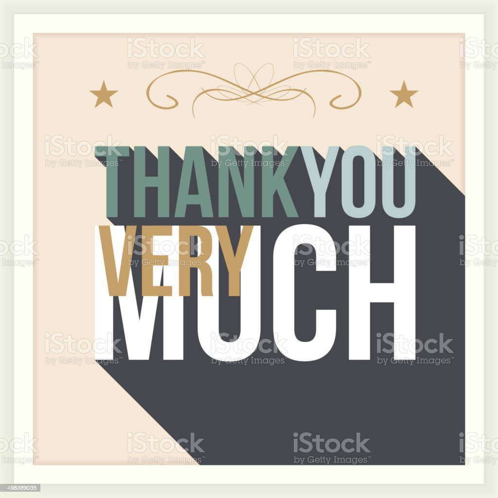 thank you greeting card royalty-free stock vector art