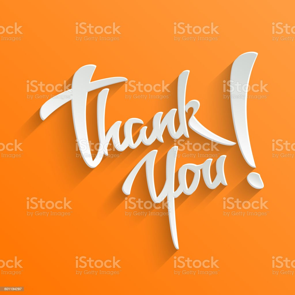 Thank You lettering Greeting Card vector art illustration