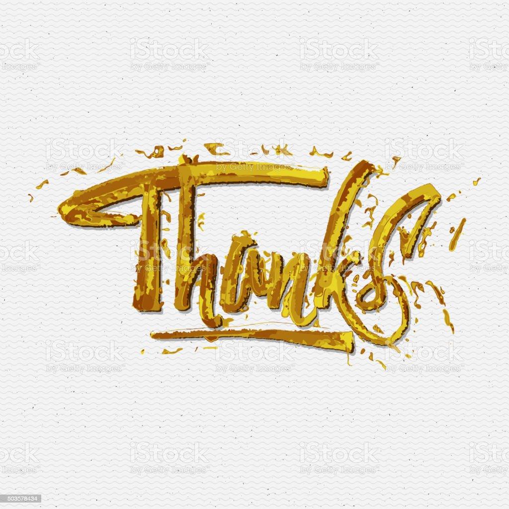 Thank you, merci beaucoup, danke- typographic calligraphic lettering vector art illustration