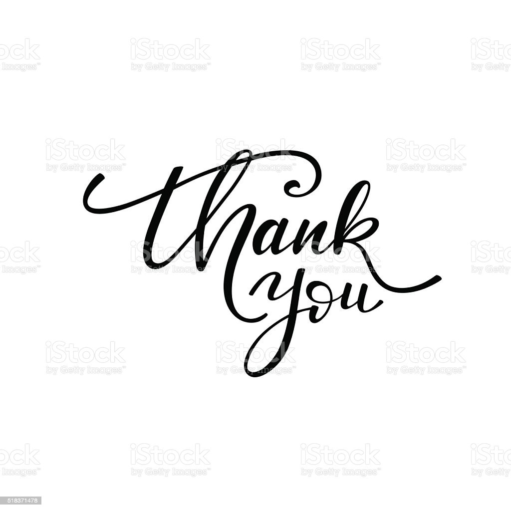 Thank you phrase. vector art illustration
