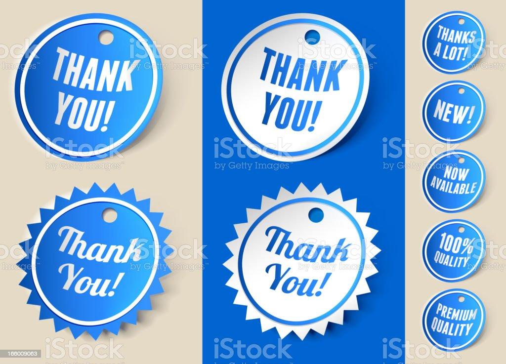 Thank You Sign Ribbon Tag royalty-free stock vector art
