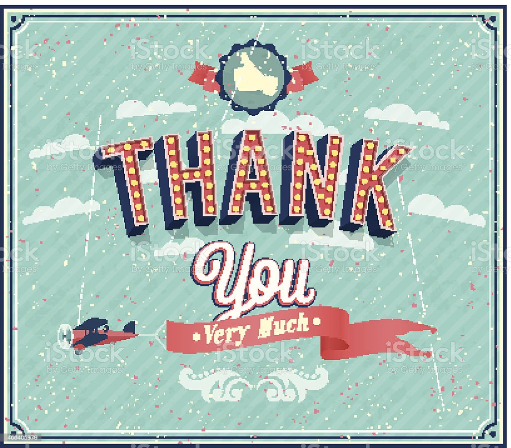 Thank you typographic design. royalty-free stock vector art