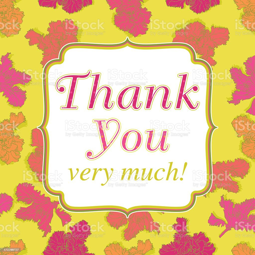 Thank You very much! (Greeing Card) royalty-free stock vector art