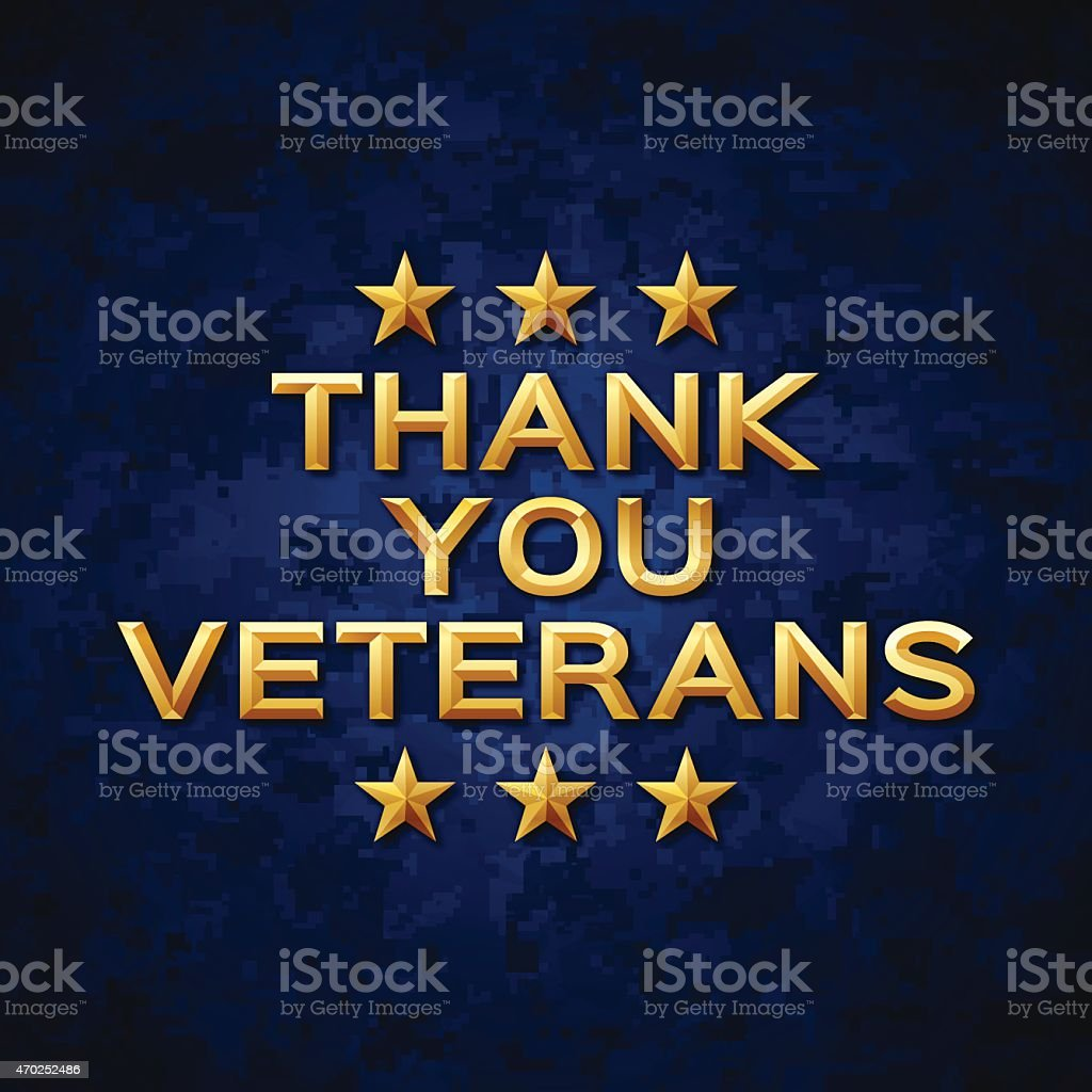 Thank You Veterans vector art illustration