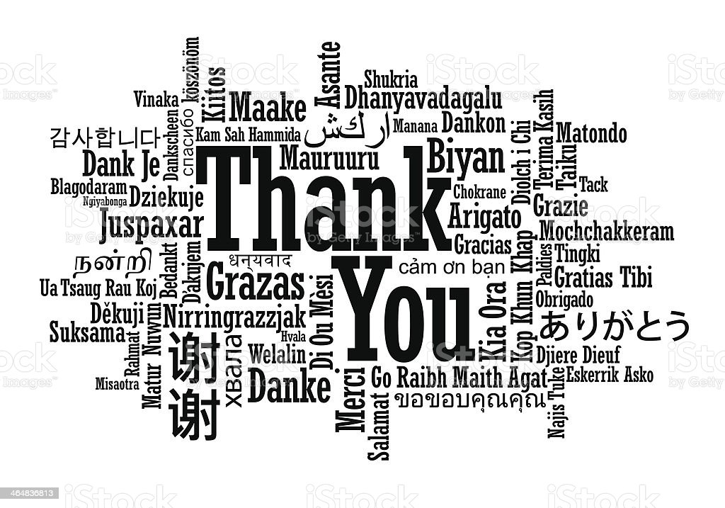 Thank You Word Cloud royalty-free stock vector art