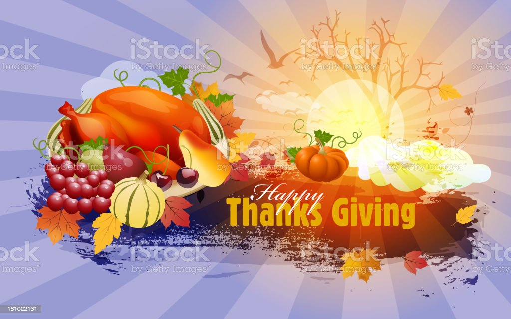 Thanks Giving Background royalty-free stock vector art