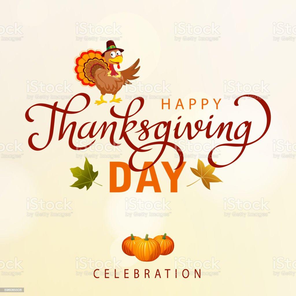 Thanksgivig Turkey Day vector art illustration