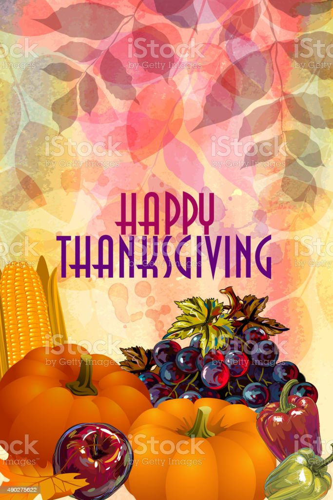Thanksgiving Background vector art illustration