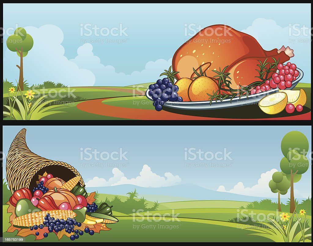 Thanksgiving Banner royalty-free stock vector art
