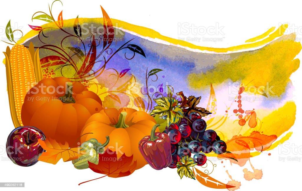Thanksgiving Banner vector art illustration