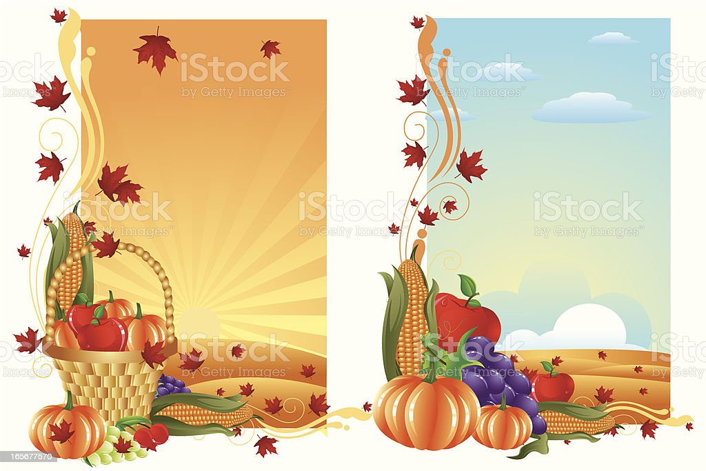 Thanksgiving Banner/Background vector art illustration