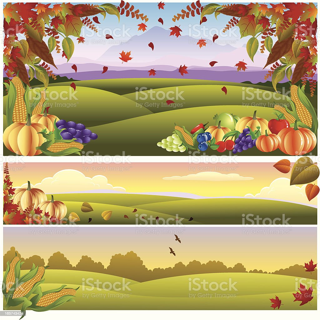 Thanksgiving Banner/Landscape.. royalty-free stock vector art