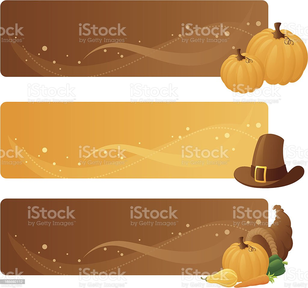 Thanksgiving Banners - incl. jpeg royalty-free stock vector art