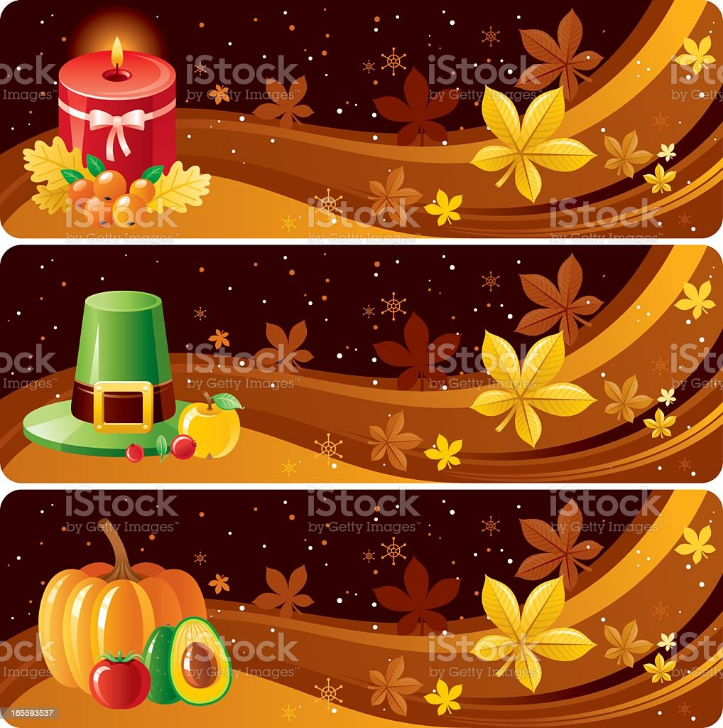Thanksgiving banners vector art illustration