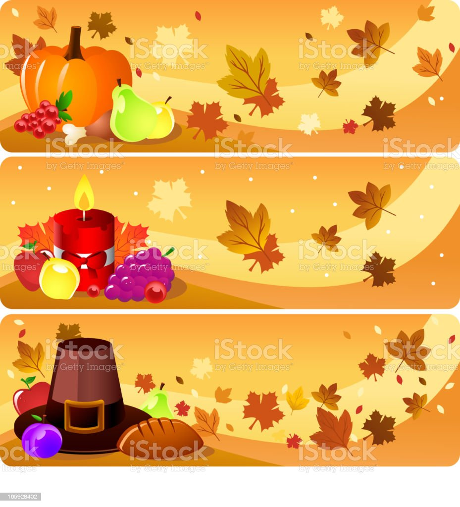 Thanksgiving banners. royalty-free stock vector art