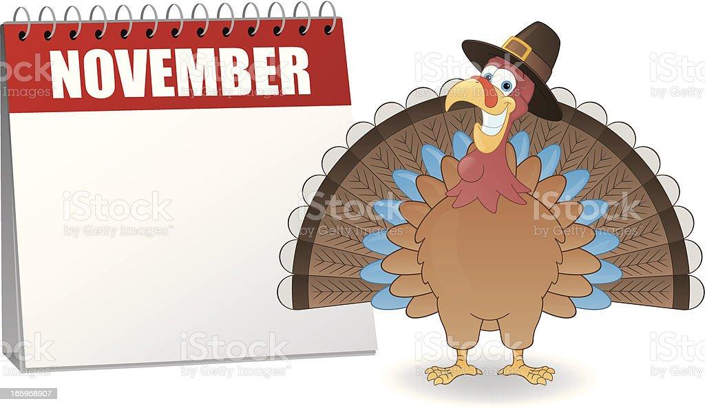 Thanksgiving Calendar royalty-free stock vector art