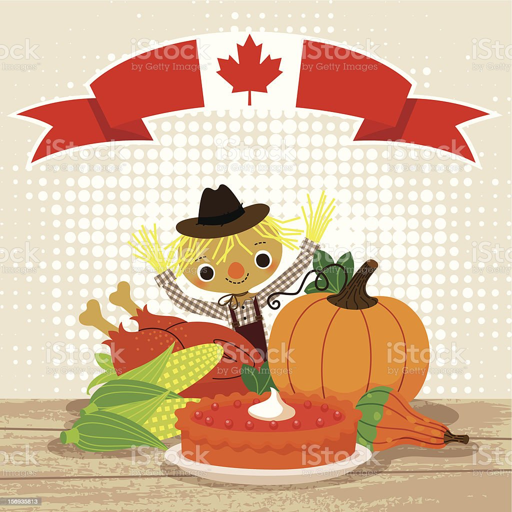 Thanksgiving Canada royalty-free stock vector art