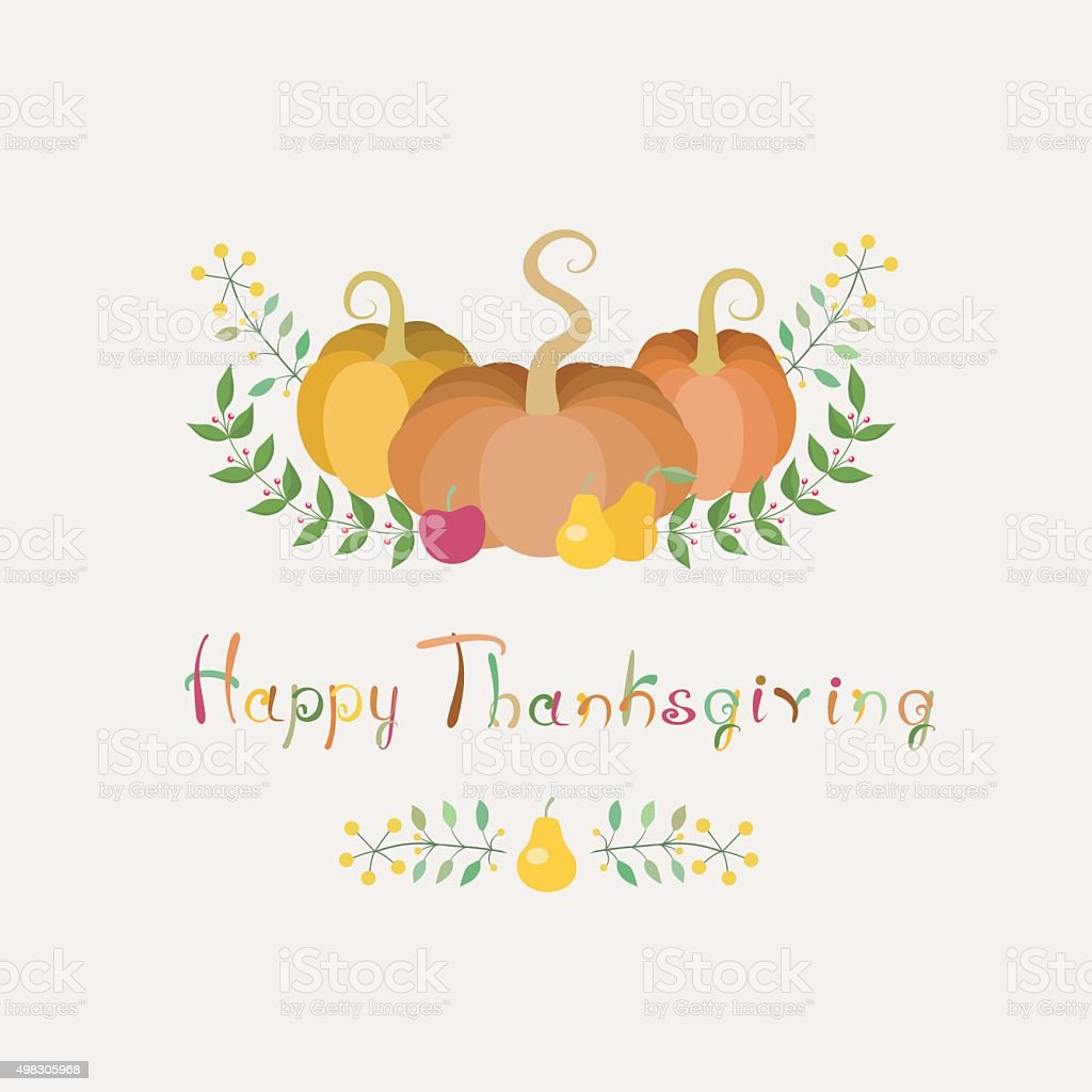 Thanksgiving Card vector art illustration