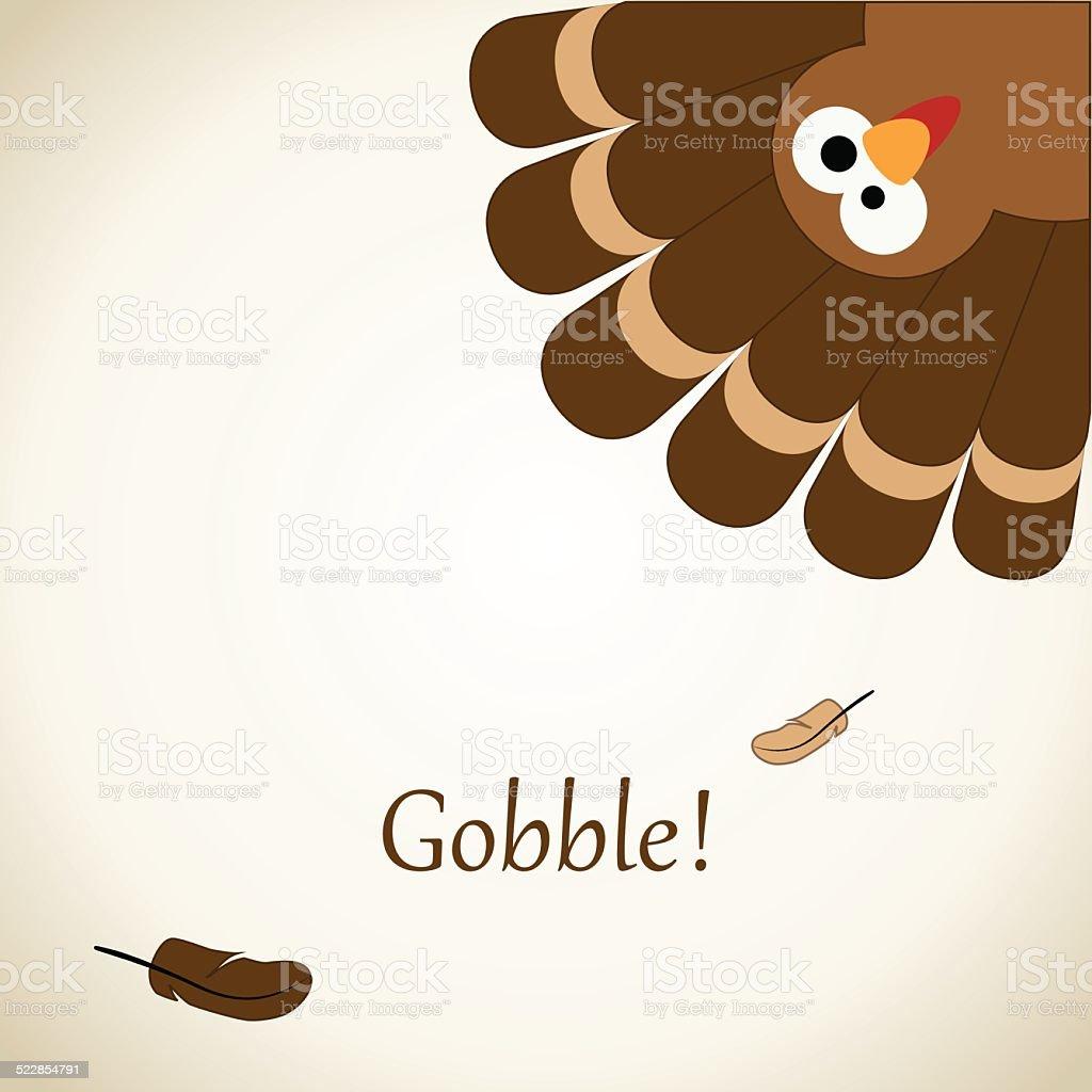 Thanksgiving Card vector art illustration