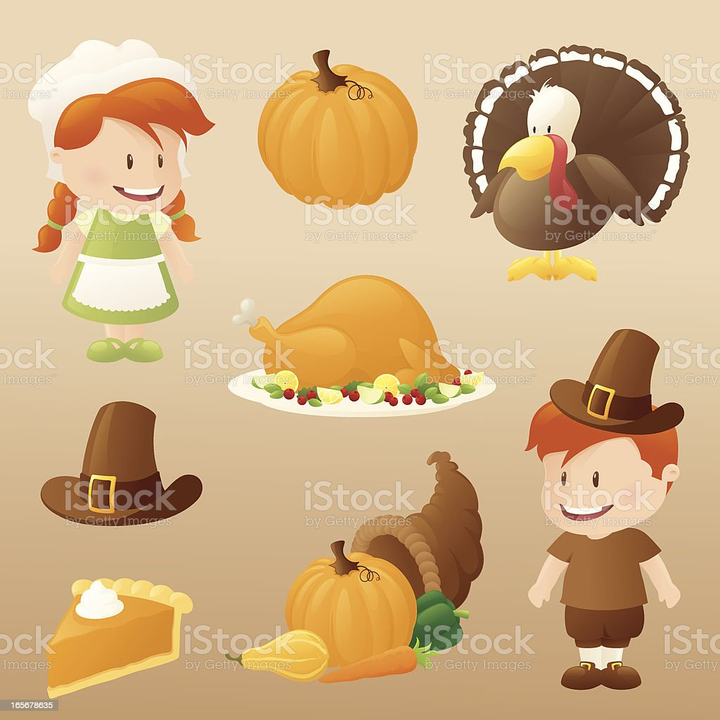 Thanksgiving Celebration royalty-free stock vector art