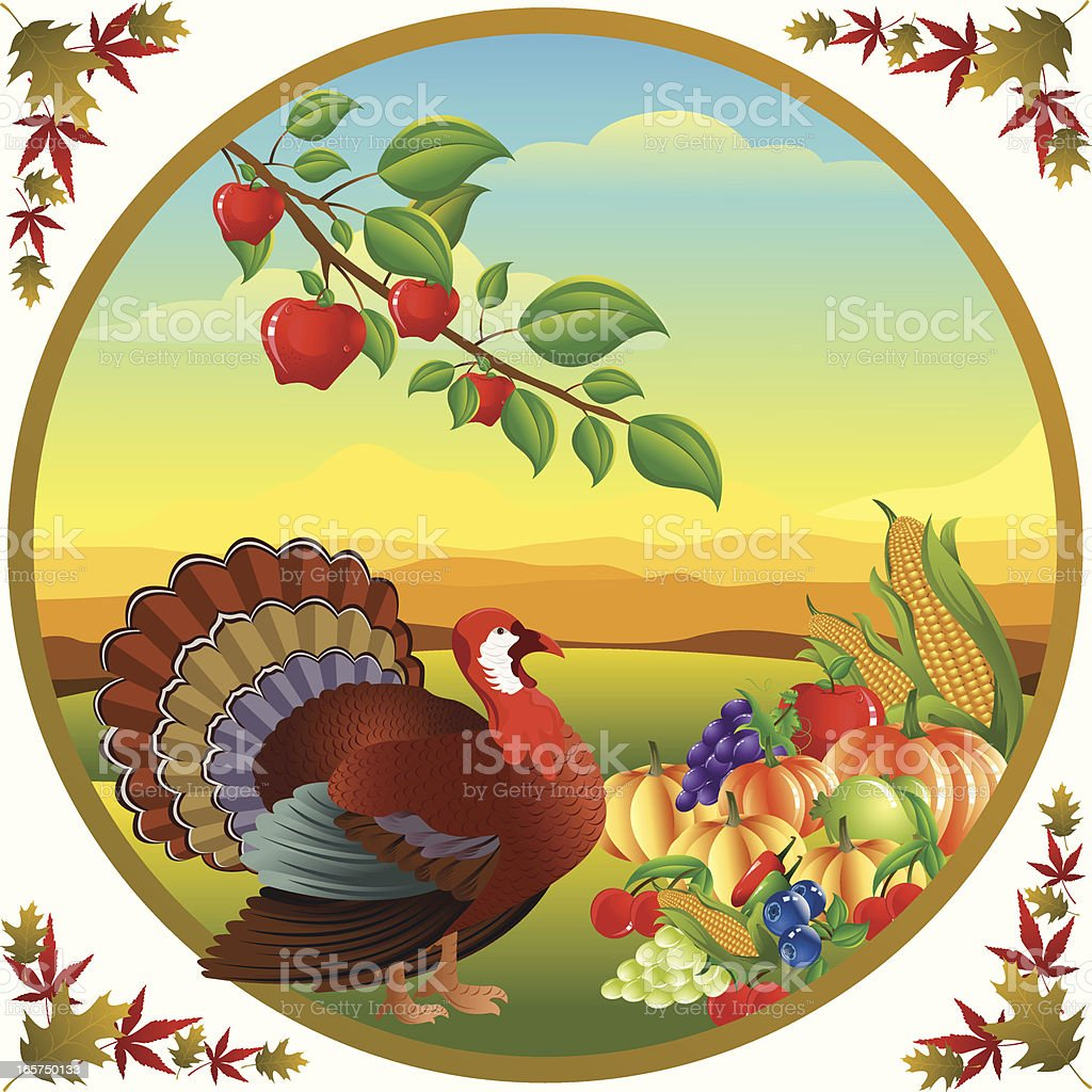 Thanksgiving Celebration.. royalty-free stock vector art
