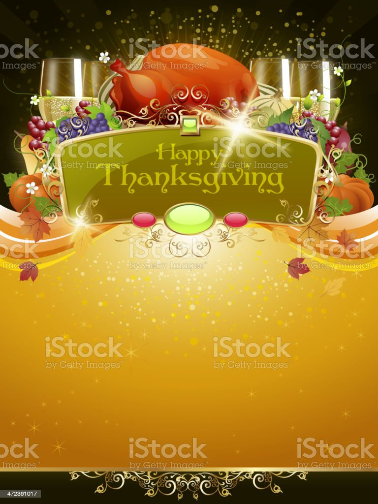 Thanksgiving Celebrations Background vector art illustration