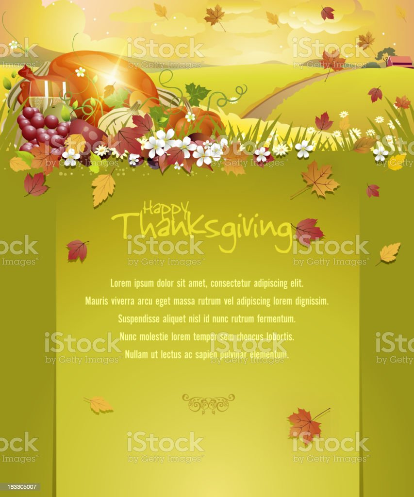 Thanksgiving Celebrations Background with Copy space royalty-free stock vector art