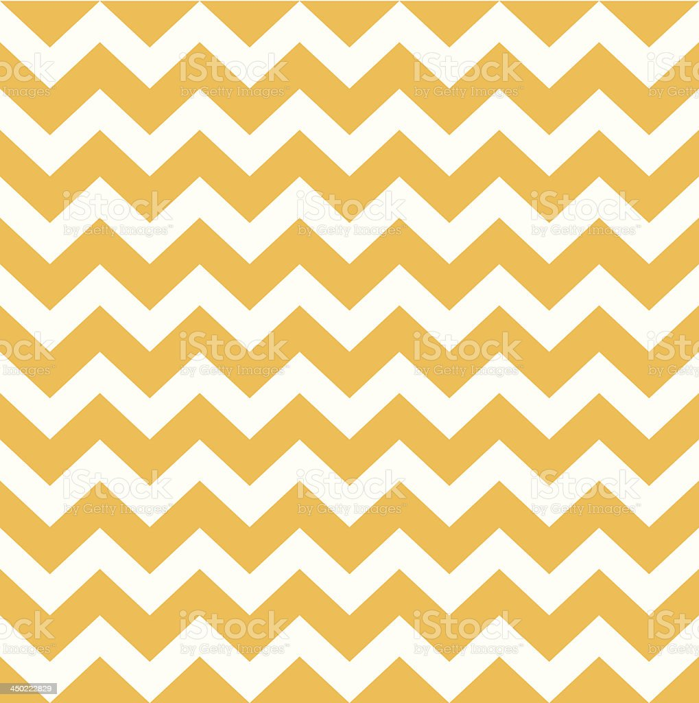 Thanksgiving Chevron pattern - yellow and white vector art illustration
