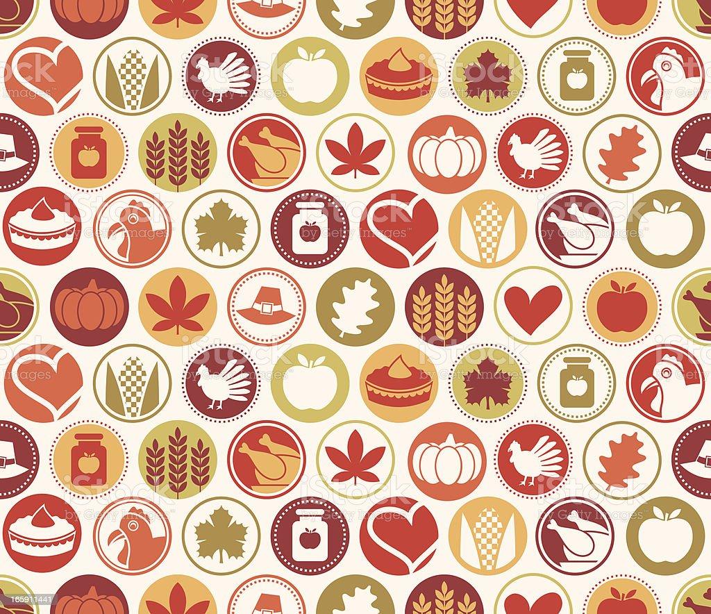 Thanksgiving Circles Seamless Pattern royalty-free stock vector art