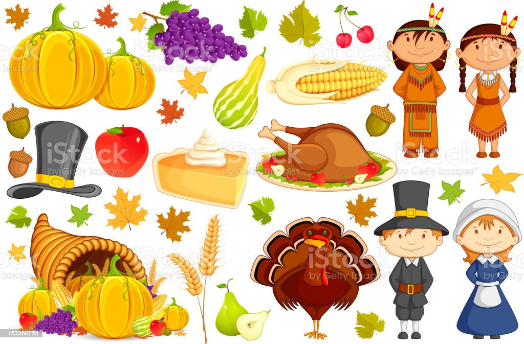 Thanksgiving Collection royalty-free stock vector art