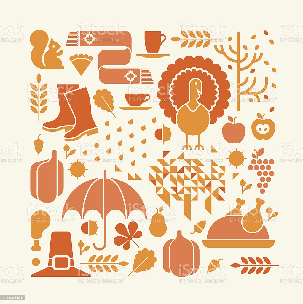 Thanksgiving composition royalty-free stock vector art