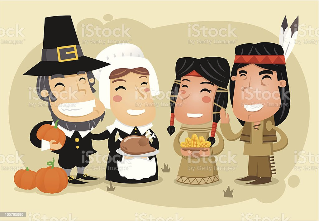 Thanksgiving day celebration royalty-free stock vector art