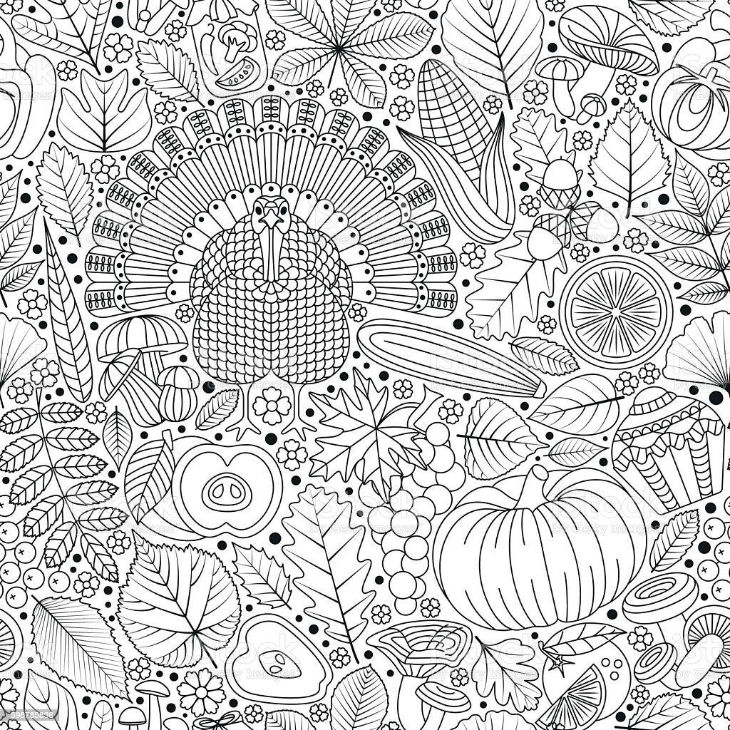 Thanksgiving day seamless pattern vector art illustration