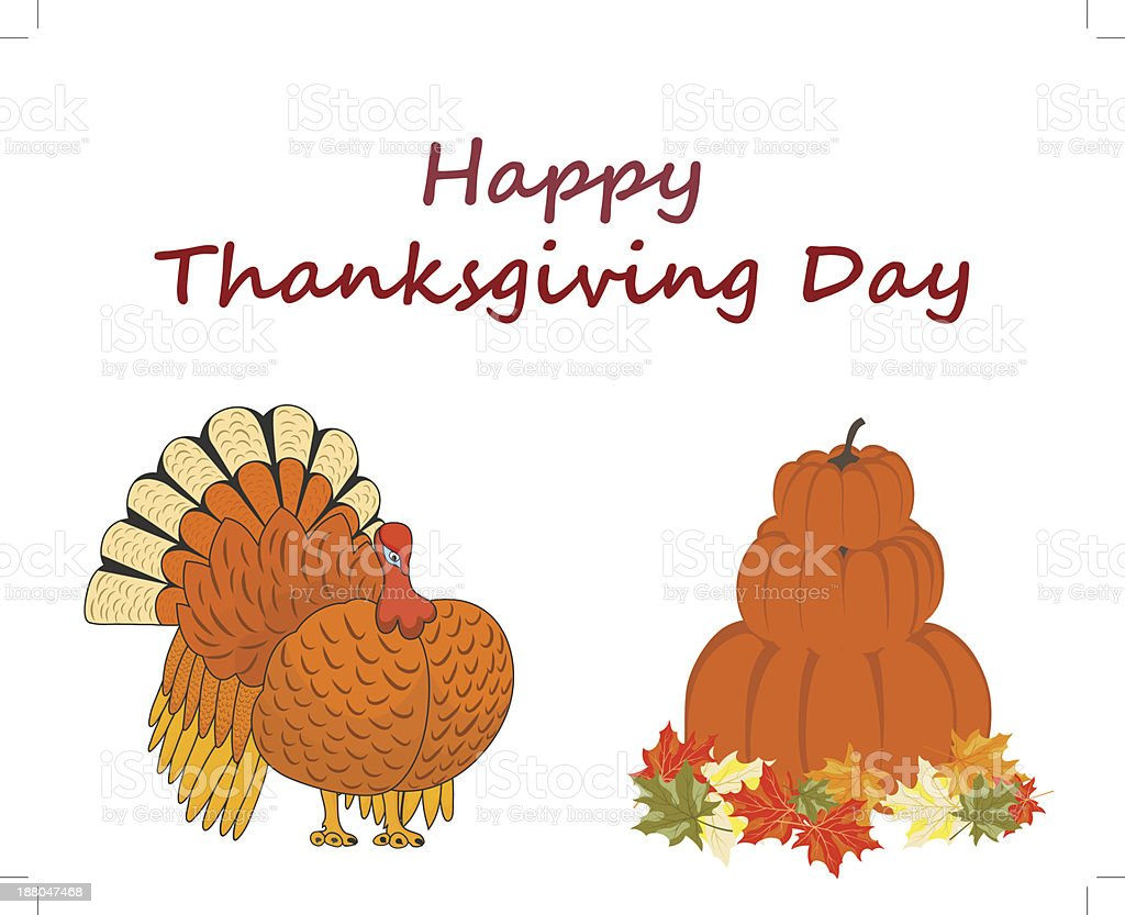 Thanksgiving day royalty-free stock vector art