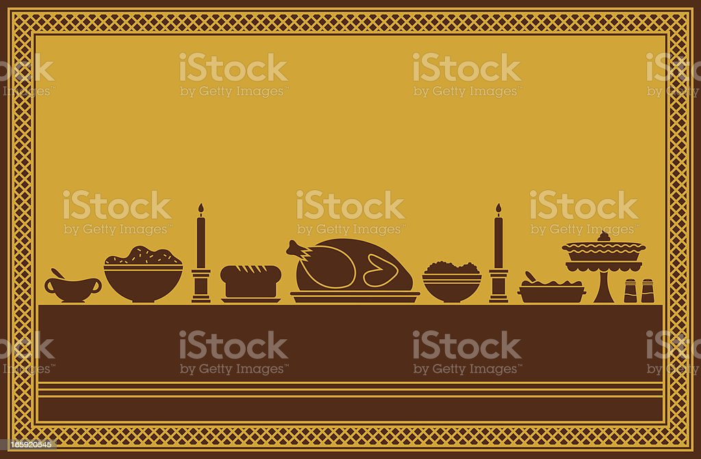 Thanksgiving Dinner Feast royalty-free stock vector art
