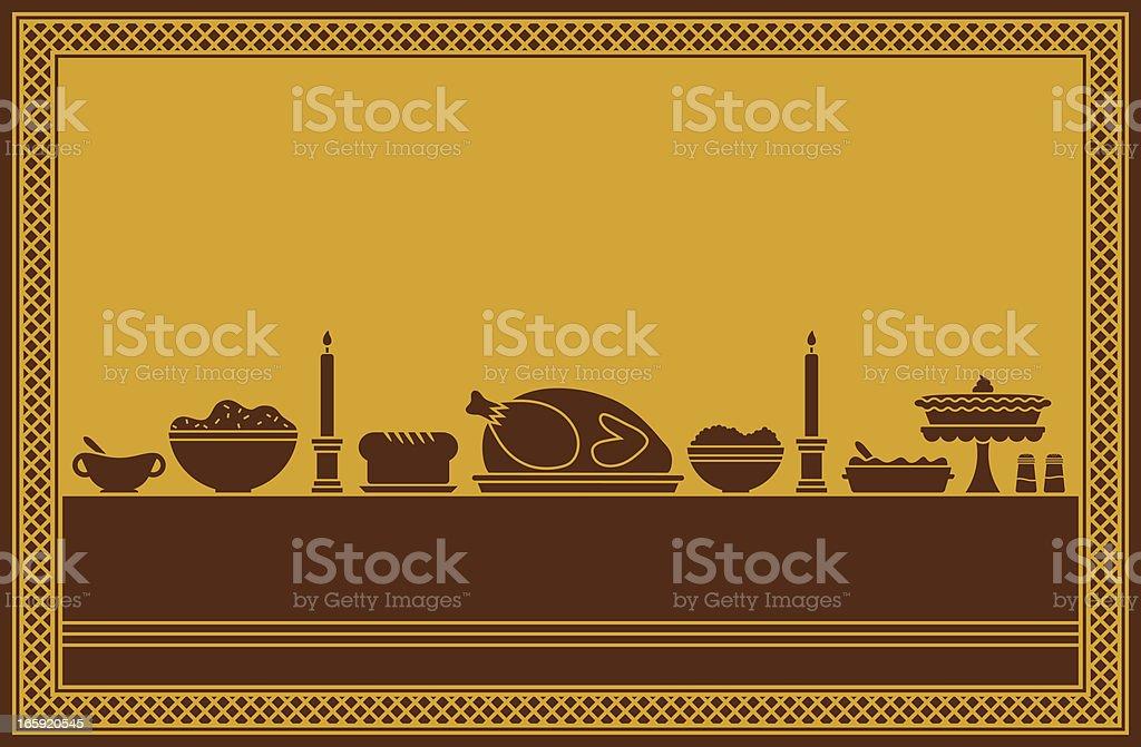Thanksgiving Dinner Feast vector art illustration