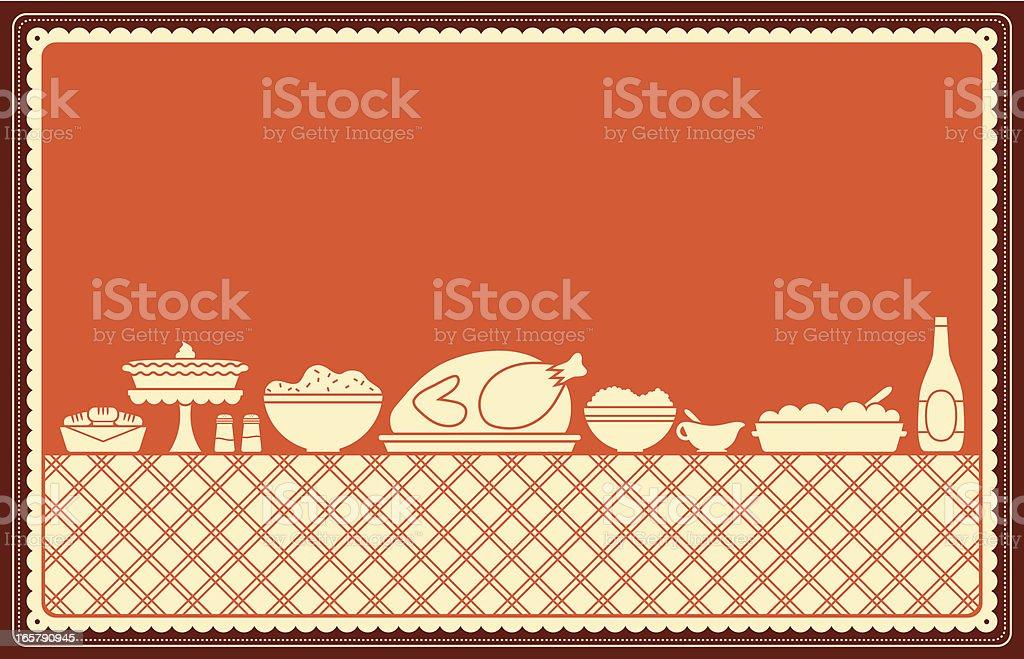 Thanksgiving Dinner Spread royalty-free stock vector art