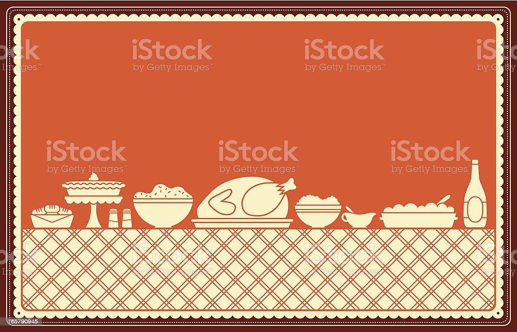 Thanksgiving Dinner Spread vector art illustration