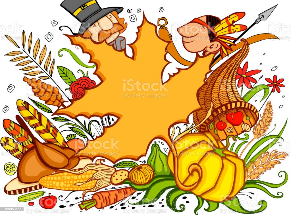 Thanksgiving Doodle royalty-free stock vector art