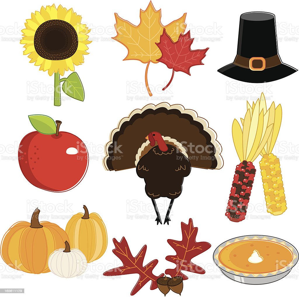 Thanksgiving Essentials royalty-free stock vector art