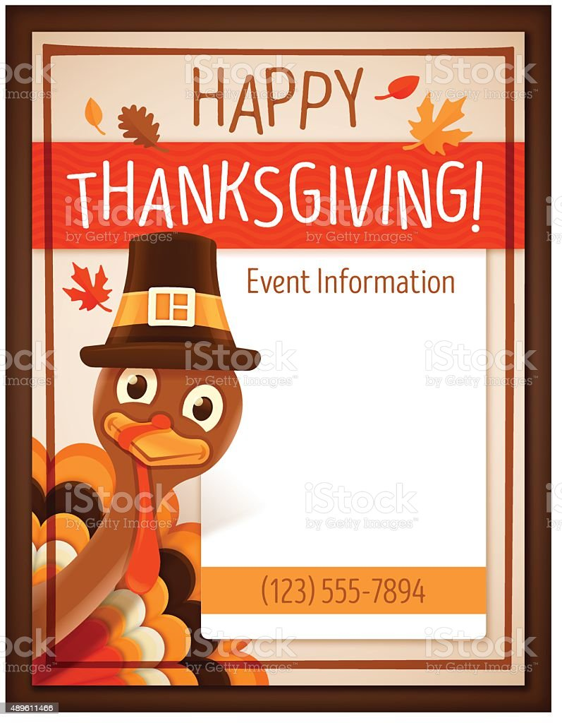Thanksgiving Event Poster vector art illustration