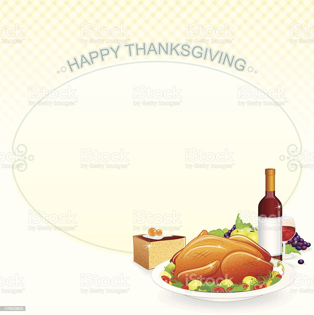 Thanksgiving Frame royalty-free stock vector art